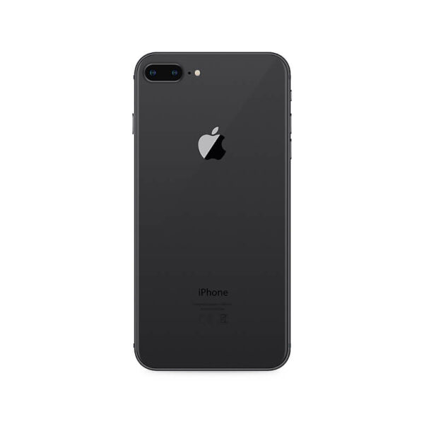 Refurbished iPhone 8 Plus Zwart achterkant bij Mobisite