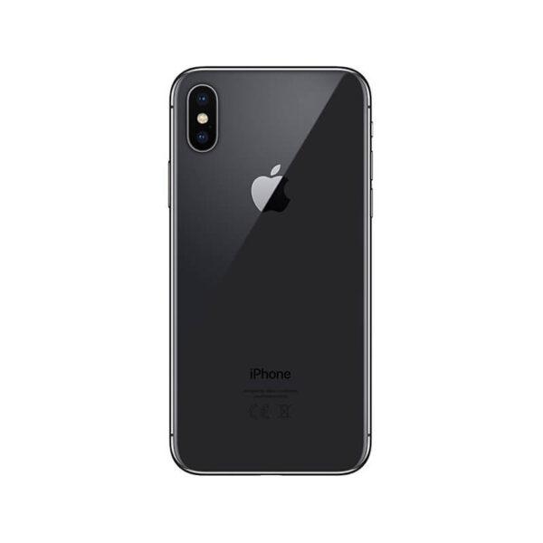 Refurbished iPhone X Zwart achterkant bij Mobisite