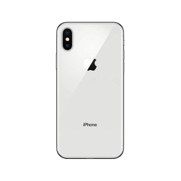 Refurbished iPhone X zilver Achterkant bij Mobisite
