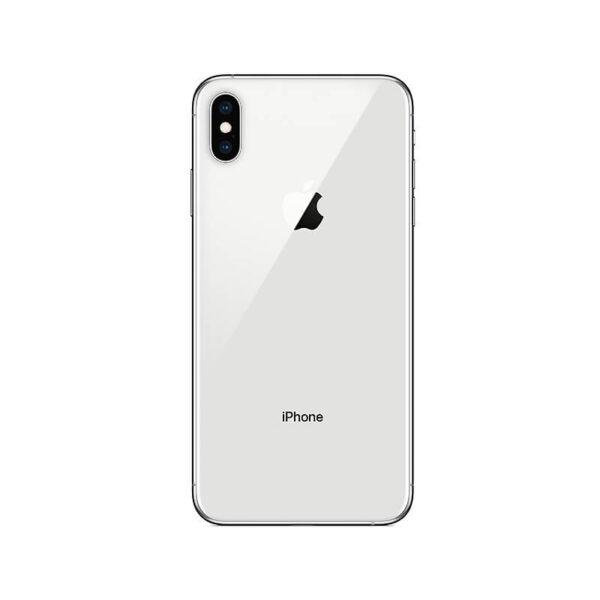 Refurbished iPhone Xs Max Zilver achterkant bij Mobisite